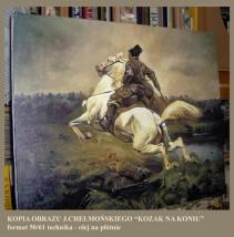 """Kopia obrazu   JÓZEFA CHEŁMOŃSKIEGO """"Jeździec"""""""