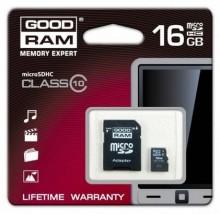 Kart pamięci microSDHC 16 GB class 10 + adapter SDU16GHC10AGRR9