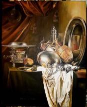 "Kopia obrazu   Willema Kalfa ""Martwa natura"""