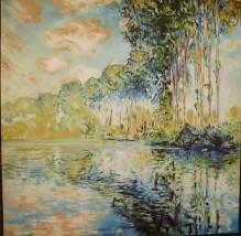 """Kopia obrazu   Claude Moneta """"Topole przy Argenteuil"""""""