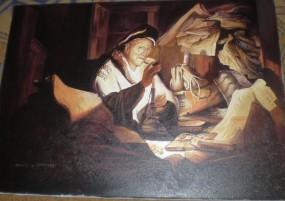 """Kopia obrazu   Rembrandta """"Lichwiarz"""""""""""