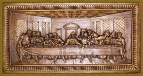 Płaskorzeźba Ostatnia Wieczerza 71x35