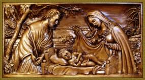 Płaskorzeźba Święta Rodzina 71x35