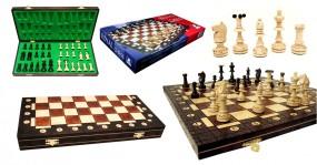 Szachy 1004 drewniane, brązowe, 51x26.5x5.5 cm ROYAL art.1004
