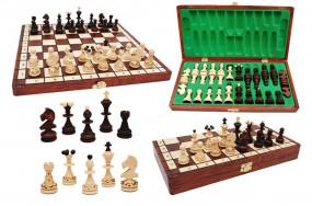 Szachy 11401 drewniane, brązowe, 35x17.5x3.8 cm PEREŁKA nr art. 11401
