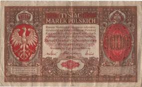 1000 Marek Polskich 1916 Polska VF/F (III/IV)