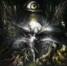 Archanioł Michał  - rysunek piórkiem (czarny i biały tusz)