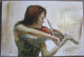 Ręcznie malowany obraz EVITA 11