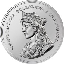 Królowa Emnilda - srebrna moneta; 2 dolary